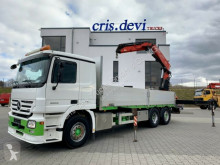 Camion Mercedes Actros 2555 6x2 V8 Fassi F290 plateau ridelles occasion