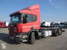 Lastbil containertransport Scania P 114 LA 380