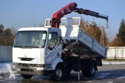 Camión caja abierta teleros Renault Midlum 220.13 crane tipper truck
