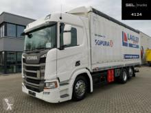 Kamión valník s bočnicami a plachtou Scania R R 410 / Retarder / Lenk-Liftachse / Ladebordwand