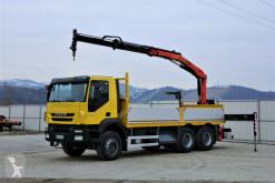 Camion Iveco Trakker 360 * Pritsche 6,10m + KRAN/FUNK * 6x4 plateau occasion
