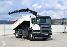 Lastbil Scania P340 Kipper 3,90m +HIAB 111BS-2DUO+ Bordmatic ! flak begagnad