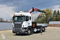 Camião Scania R400*PRITSCHE 6,20m*FASSI F215.AC23 + FUNK estrado / caixa aberta usado