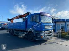 Camion plateau ridelles MAN TGA TGA 26.400 Baustoff Kran TeRex Lenkachse