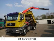 MAN 18.340 3Seitenkipper mit PK 12000 Kran 4x2 truck used three-way side tipper