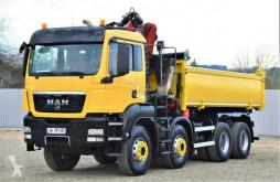 Kamion MAN TGS 35.400 Kipper 5,20 m +HMF 1444 Z2 + FUNK/8x4 plošina použitý