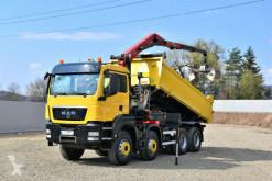 Camion MAN TGS 35.400 Kipper 5,20 m +HMF 1444 Z2 + FUNK/8x4 benne occasion