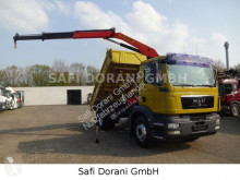 Camion ribaltabile trilaterale MAN 18.340 3Seitenkipper mit PK 12000 Kran 4x2