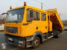Teherautó MAN 12180-TGL-DOPPELKABINE-DREISEI használt hátra és két oldalra billenő kocsi