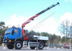 Camion MAN L2000 4x4 HMF 2120 Crane Kran Winch Off Road cassone usato