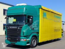 Lastbil flexibla skjutbara sidoväggar Scania R R 500*Euro 5*Palfinger PK18002*Kran*Klima*