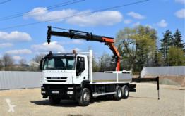Lastbil Iveco TRAKKER 360 Pritsche 6,80m+ PK 16502 + FUNK/6x4! platta begagnad