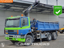 Camion DAF 75CF290 NL-Truck Manual Lenkachse Hiab 102-2 tri-benne occasion