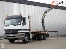 Vrachtwagen platte bak Mercedes 2640 Kraan - MP 1 - Effer 17 TM Kraan, Crane, Kran, Grue - Airco, Manuel, BB