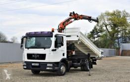 Camion MAN TGL 12.220 Kipper 4,10m+TEREX 75.2-A2 ! plateau occasion