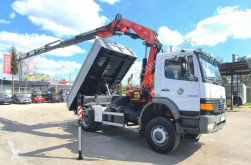 Camion Mercedes ATEGO 4x4 1828 FASSI F175A 2006 Kipper Meiller plateau occasion