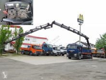 Lastbil flatbed sidetremmer MAN TGS TG-S 26.400 6x4 Pritsche Heckkran Hiab 377+Jib