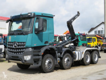 Mercedes hook lift truck Arocs 4142 8x4 Abrollkipper Hiab Schubarm 26to