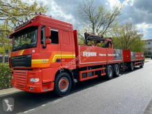Camion remorque DAF XF105 XF 105.460 Baustoff mit ATLAS KRAN/ E5 EEV /Lenk plateau ridelles occasion