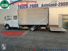 Mercedes ponyvával felszerelt plató teherautó Vario 816 DoKa 7 Sitze MBB LBW 1 to Standheizung