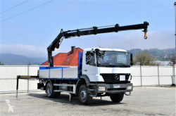 Camion Mercedes Axor 1829 Pritsche 5,85m +HIAB 122BS-3HIDUO+FUNK plateau occasion