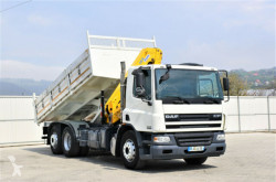 Camion DAF CF 75.310 * Kipper 5,60 m + EFFER 155-2S ! plateau occasion