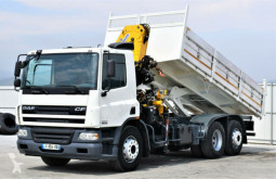 Camion DAF CF 75.310 * Kipper 5,60 m + EFFER 155-2S ! benne occasion