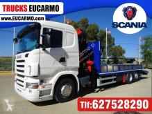 Kamión Scania náves na prepravu strojov ojazdený