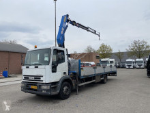 Камион платформа Iveco ML120E18P Euro Cargo - - HMF 8meter - Kran/crane - TOP CONDITION