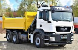 Camion benne MAN TGS 26.360 Kipper 4,80m HIAB 166 BS-3HIDUO +FUNK