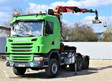 Camión Scania G440 Holztransporter+EPSILON E120296 / 6x6 ! caja abierta usado