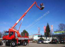 Camião plataforma Iveco 100E18 4x4 PALFINGER BISON TKA 19 LIFT Aufzug