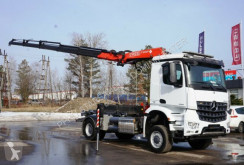 Camion Mercedes 4x4 AROCS 1836 FASSI 165 NCH EURO 6 KRAN CRAN benne occasion