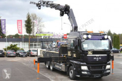 Camion plateau MAN TGX 28.480 6x2 HMF 4220 K4 Crane Fly Jib Winch