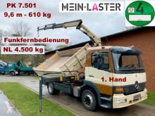 Camion polybenne Mercedes 1223 3 S-Kipper PK 7501 - 9,6 m 650kg - Funk FB