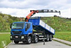 Ciężarówka platforma Iveco TRAKKER 360 Kipper 6,40m+PK 23001-EHD+FUNK/ 8x4
