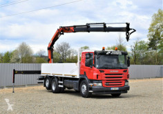 Camion Scania P360 Pritsche 6,40m+PK 18002-EHB + FUNK! plateau occasion