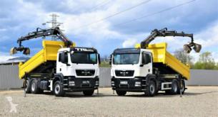 Ciężarówka platforma MAN TGS 26.360 Kipper 4,80m HIAB 166 BS-3HIDUO +FUNK