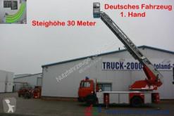 Camião plataforma Mercedes 1524 Metz Feuerwehr Leiter 30m Rettungskorb 1.Hd