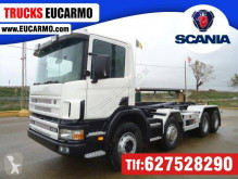 Camión Gancho portacontenedor Scania R124 420