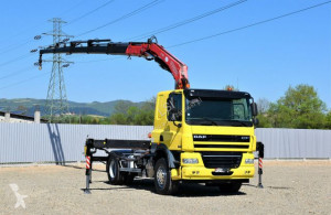 Camion plateau DAF CF 85.410 Sattelzugmaschine+FASSI F195A.025