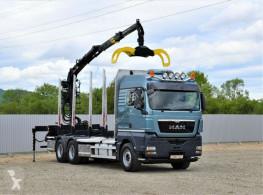 Camion grumier MAN TGX 26.480 Holztransporter + LOGLIFT 115Z80A/6x4