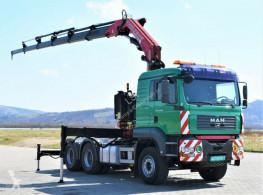 MAN plató teherautó TGA 33.430Sattelzugmaschine+FASSI 300AXP.25/FUNK