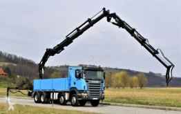Scania flatbed truck R480 HIAB 377 E-4HIDUO + JIB100X-4 + FUNK!