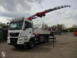 Camion MAN 26.480 Kipper mit HMF 3220 -K7 Seilwinde Allrad benne occasion
