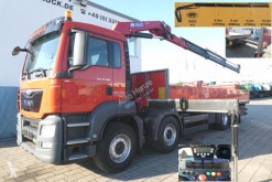 MAN flatbed truck TG-S 35.360 8x2 BL Pritsche Kran Kran 26m to