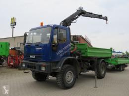 Kamion EuroCargo 100 E 15 2-Achs Allradkipper Kran korba použitý