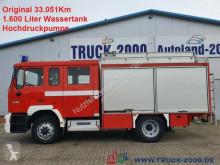 Camión Camion MAN 14.224 4x4 Metz Feuerwehr 9Sitze 1600l Löschw.