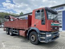 Lastbil Iveco Eurotech 260E42 6x4 Pritsche Kran ATLAS 140.1 platta begagnad