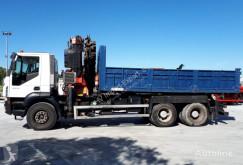 Camion Iveco 350 6X4 BASCULANTE VOLQUETE FASSI 455 XP benne occasion